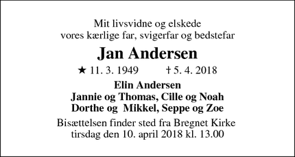 Dødsannoncen for Jan Andersen - Ebeltoft