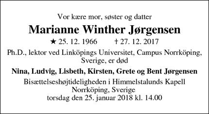 Marianne winther jorgensen